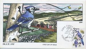 #2318 North American Wildlife Blue Jay Hand Painted Fred Collins First Day Cover
