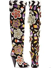 K New TOM FORD 2D Floral Embroidered Over-the-Knee Boots EU 39 - UK 6 - US 7