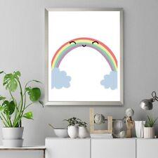 Rainbow Wall Print A4 On Card