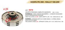 EMBRAYAGE COMPLET - VESPA PE 200 - RALLYE 180 - 200 Z 23 131223