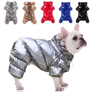 Dog Jacket Fleece Padded Pet Clothes Windbreaker Warm Vest Winter Coat Jumpsuit