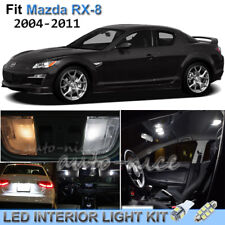 For 2004-2011 Mazda RX-8 Luxury White Interior LED Lights Kit 10 Pieces