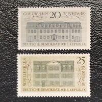 Alemania Oriental año 1967 Mansiones Celebres de Weimar  Nº 1026 y 1027