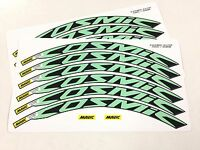 Cosmic Elite Wheel Decals/Stickers(12) for 30mm CELESTE GREEN/Bianchi