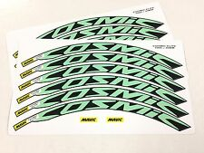 2016 Mavic Cosmic Elite Wheel Decals/Stickers(12) for 30mm CELESTE GREEN/Bianchi