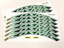 2016 Mavic Cosmic Elite Wheel Decals/Stickers(12) for 30mm CELESTE GREEN/Bianchi