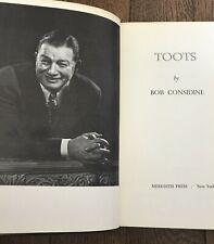 Toots  SHOR Hardcover – 1969 by Bob Considine  NEW YORK CITY NIGHT LIFE GLEASON