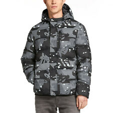 Timberland Goose Eye Down Jacket Coat Grey Camo Print Size XL New with Tags