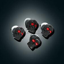 4x Black Skull License Plate Bolts For Harley XL Sportster V Rod Hugger 883 1200
