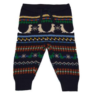 Baby Gap NWT Boys Navy Dinosaur Fair Isle Sweater Pants 516692 3-6 Months $30