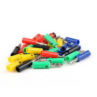 30 Pcs 4mm Banana Plug 5 Color For Power Amplifiers Binding Post