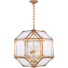 CHANDELIER GOLDEN IRON FOYER KITCHEN DINING ROOM LIGHTING 4 LIGHT CHANDELIERS
