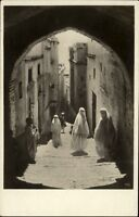Tunis Tunesien Afrika Africa AK ~1920/30 Straßenpartie im Araberviertel Frauen