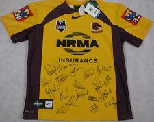 2012 Brisbane Broncos Away Jersey Hand Signed x 19 + Photo Proof