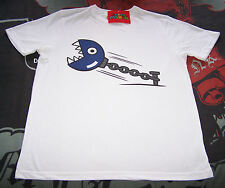 Nintendo Super Mario Chain Chomp Mens White Printed T Shirt Size XXXS New