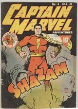 Captain Marvel Adventures #4 October 1941 VG Classic cover