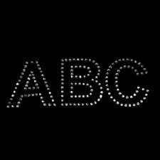 2 inch Rhinestone Letters - Iron on transfer [arial-o]