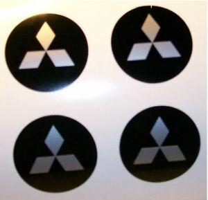 Set of 4 Mitsubishi Wheelhub Decals