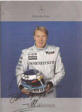 Autogramm - Mika Häkkinen ( Mercedes Benz )