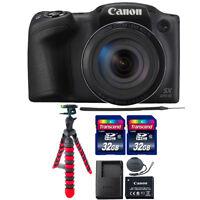 Canon PowerShot SX420 IS 20MP Digital Camera Black with 64GB Accessory Bundle
