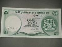 SCOTLAND 1984 £1 POUND  P# SG24 UNCIRCULATED! CRISP! GRADABLE! AWESOME NOTE!