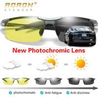2019 Aluminum HD Polarized Photochromic Sunglasses Men Chameleon Transition Lens
