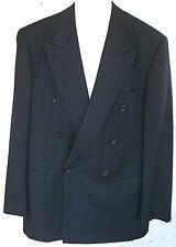 Anzug BOSS Zweireiher_ Schurwolle dunkelblau, leicht+etwas glänzend <> Größe 98