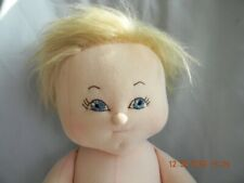 """Vintage Handmade Blonde Blue-Eyed Beauty Boy Doll 21"""" Cotton with New Puppy Pjs!"""