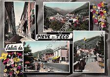 Cartolina - Postcard - Saluti da - Pieve di Teco - Vedutine - 1956