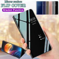 Mirror Flip Phone Case Smart Stand Cover for Samsung Galaxy S7 S8 S9 S10 Plus