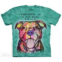 Pit Bull Smile T-Shirt by The Mountain. Big Face Dog Pets Sizes S-5XL NEW