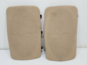 1993 Chevy Suburban Rear Speaker Covers Cloth Ceiling Roof GRILLE GRILL OEM TAN