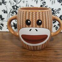 Sock Monkey Coffee Cup Tea Mug Double Handle Galerie Ceramic