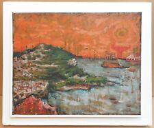 Hartlepool Docks Oil by listed British/Canadian artist Eric Atkinson, circa 1960