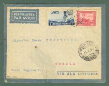 Storia postale colonie. SOMALIA. Aerogramma del 13.4.40 da Mogadiscio.