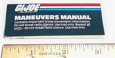 G I JO E MINI Catalog Brochure Order Form   1988 Maneuvers Manual