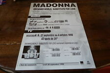 MADONNA - Plan média / Press kit !!! DROWNED WORLD SUBSTITUTE FOR LOVE !!!