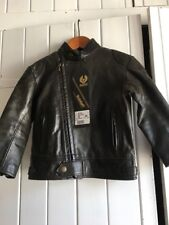 Genuine Vintage Child's Boys Baby Leather Jacket. New With Tags. Size 2