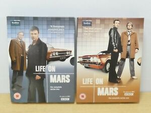 Life on Mars Complete Series 1 & 2 Box Sets DVDs Great Condition Sam Tyler