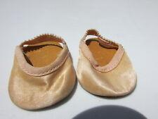 "Madame Alexander Doll Shoes Pink Satin Slippers Original 1940's Baby 18"" Vintage"