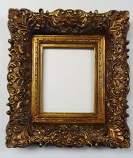 """Picture Frame- 8x10""""- Ornate- Bronze & Dark Gold Color- Wood/Gesso- GLASS #256G"""