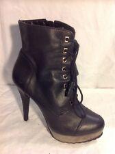Carvela Black Ankle Leather Boots Size 36