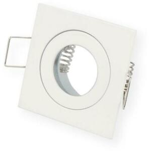 10x LED Installation frame Bathroom Damp room Square IP44 55x55x21mm White Alumi