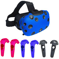 Soft Silicone Protective Sleeve Case Cover Set for HTCVIVE VR Controller Helmet