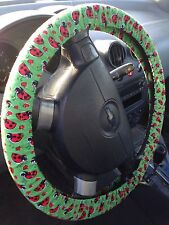 Lady Bugs Fabric Steering Wheel Cover