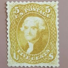 US Sc #67 Buff Mint well centered radiant color Scott $10,500 extremely rare