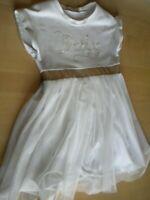 abito vestito bambina bimba Melany Rose cerimonia elegante panna ricami 7 anni