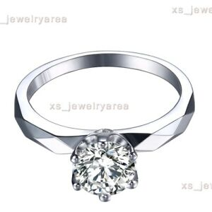 Sterling Silver Flawless Round 5.5mm Flawless Cubic Zirconia Ring Fine Jewelry