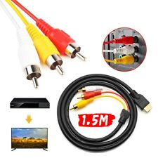 1080 HDMI Male S-Video to 3 RCA AV Audio Cable Cord Adapter for TV HDTV DVD
