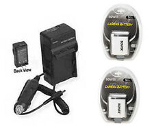 2 Batteries + Charger for Canon A2600 ELPH 190 IS IXUS 125 HS 132 135 140 240 HS